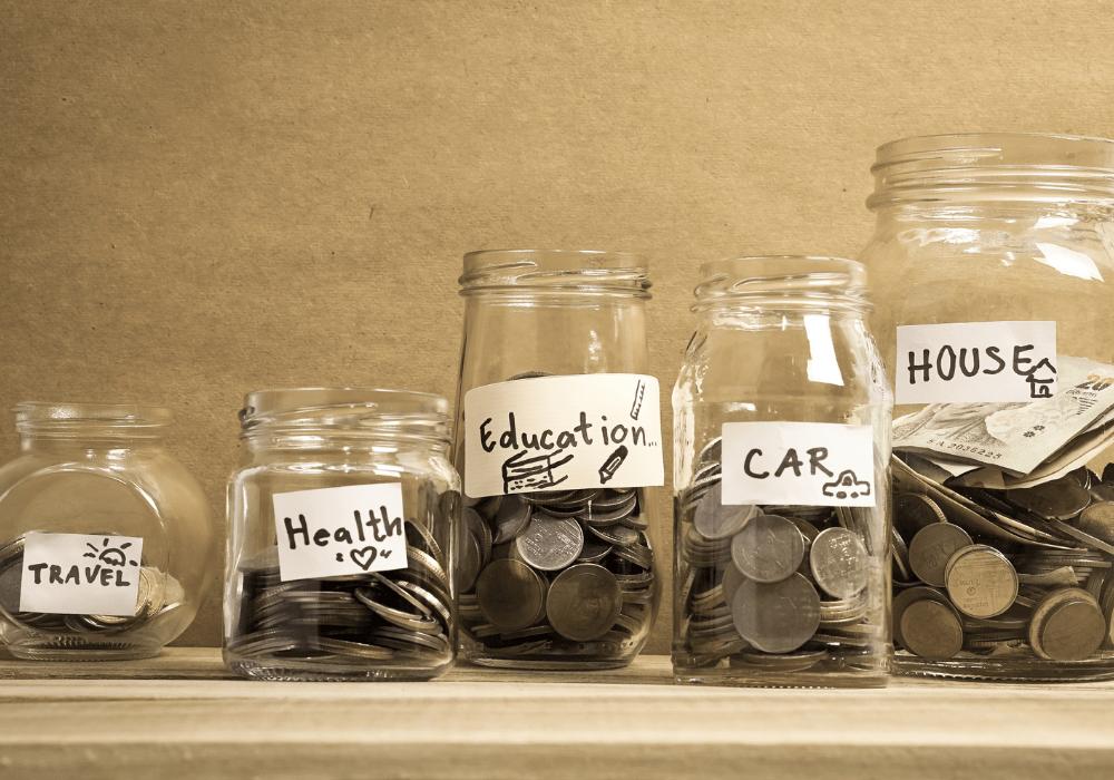 saving money in jars
