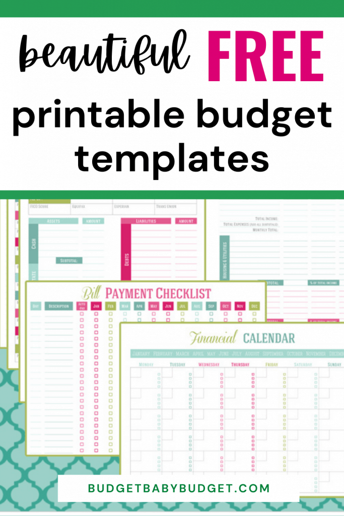 free budget printables and templates