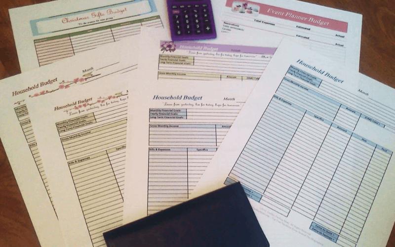 budget templates photo