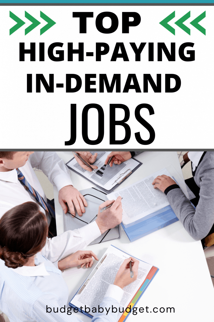 top high paying in demand jobs list