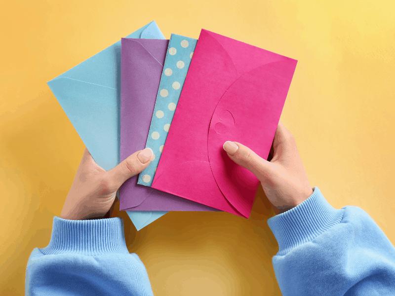 colorful cash envelopes