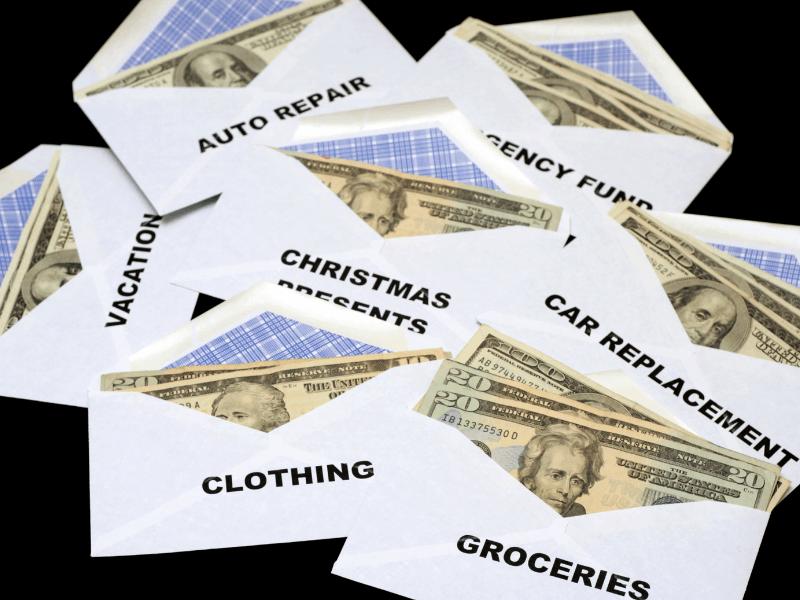 budget envelopes full of cash